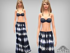 Metens' Waves Maxi Skirt