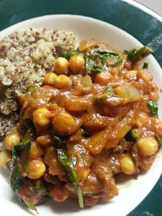 Moroccan Spiced Chickpeas and Spinach