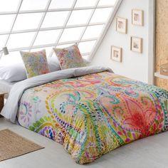 Funda Nórdica OREGON de la firma Sansa. Llena tu habitación de color y alegría con este nuevo diseño donde se aprecia un bonito estampado de colores vivos.