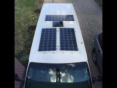 Van Life - Our Amazing Stealth Solar Power Set up!  Off Grid Camper Van - YouTube