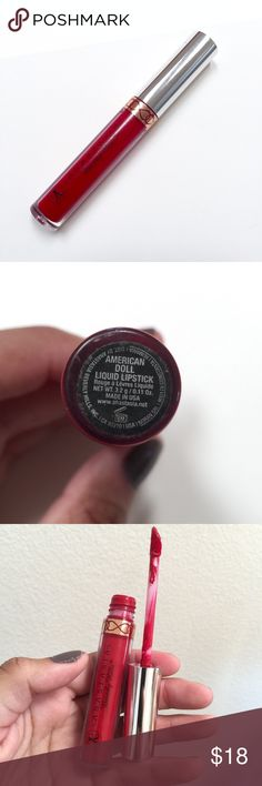 Anastasia red matte liquid lipstick american doll Matte red liquid lipstick. Used a few times Anastasia Beverly Hills Makeup Lipstick