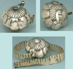Antique-English-Sterling-Silver-Tape-Measure-Hallmarked-1890