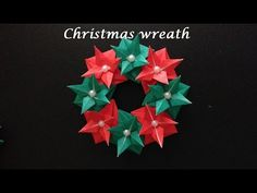 折り紙 クリスマスリースの折り方 Origami Christmas wreath - YouTube Useful Origami, Origami Easy, Origami Envelope, Christmas Holidays, Christmas Wreaths, Xmas, Christmas Tree, Cute Crafts, Diy And Crafts