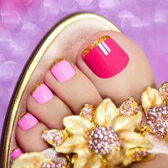 Cute Toe Nails, Great Nails, Toe Nail Art, Cute Acrylic Nails, Pretty Nail Designs, Toe Nail Designs, Simple Nail Designs, Classy Nails, Trendy Nails
