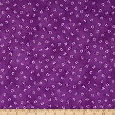 Laurel Burch Dogs & Doggies Paw Prints Dark Purple from @fabricdotcom  Designed by Laurel Burch for Clothworks Fabric, this cotton print fabric is perfect for quilts, home décor accents, craft projects and apparel. Colors include shades of purple.
