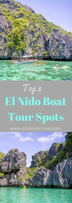 The ultimate activity when visiting El Nido, Philippines is to take island hopping tours to see the lagoons and coves in the area. We've compiled a list of our favorite spots to help you choose the best El Nido boat tour for you. | www.eatworktravel.com