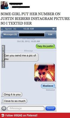 I thought this was hilarious!! Funny Justin Bieber prank xD