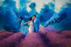Love the smoke bomb idea for engagement photos just wouldn't want them to be seen in the photo