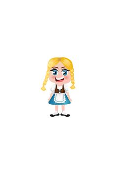 German Girl Vector Image #people #world http://www.vectorvice.com/people-world-vector