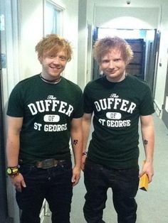 Rupert Grint and Ed Sheeran. I cant handle this picture. Seriously. This is too much. @Ali Henderson