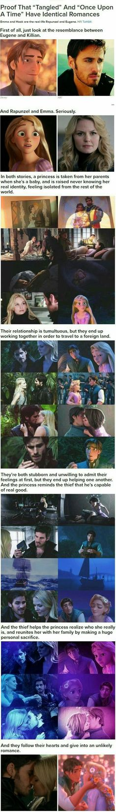 Captin  swan are so like Princess Rapunzel and Prince Eugene