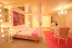 dream bedroom....wow. wow. wow. if I were single this would rock. I don't think my husband will go for this...