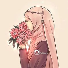 Along with many beautiful features, God has made the human soul . Hijab Anime, Anime Muslim, Cartoon Drawings, Cute Drawings, Cartoon Art, Cartoon Characters, Hijab Drawing, Islamic Cartoon, Hijab Cartoon