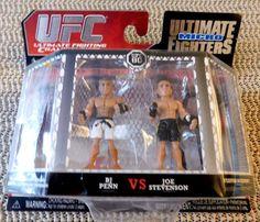 UFC  Micro Fighters Series 3 : BJ Penn VS Joe Stevenson  NIB 2 Figure Set with 1…