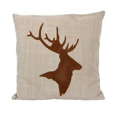 Cushion deer A linen fabric with deer print. Removable cushion cover with zipper.