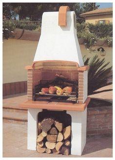 barbecue a legna in muratura - pmc prefabbricati e arredo giardino