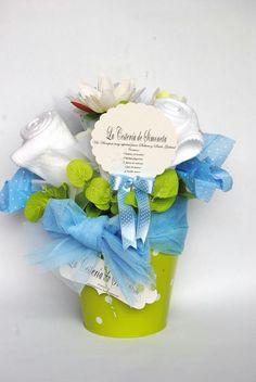 Baby bouquet.La Cestería de Simoneta.