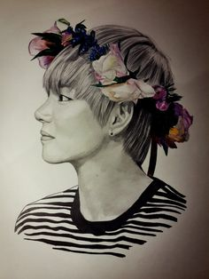 V (BTS) by OlyaZabolockaya5 on DeviantArt