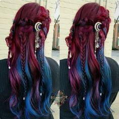 10 Amazing mermaid hair colour ideas – My hair and beauty Grunge Hair, Dream Hair, Cool Hair Color, Amazing Hair Color, Hair Color For Black Hair, Crazy Hair, Hair Dos, Hair Designs, Pretty Hairstyles