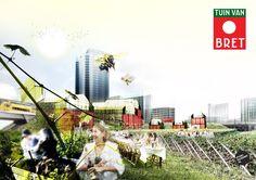 """Stationsgebied wordt stadstuin! """"@architectenweb: Plan voor Tuin van Bret bij Sloterdijk"""