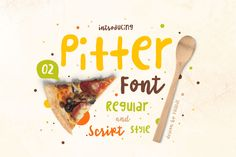 The Pitter font is ideal for bringing a youthful edge to your work and looks great with bold, serif, display fonts!
