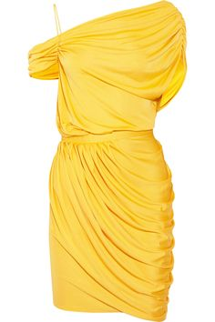 Catherine Malandrino - Gathered silk-blend dress | 158.00