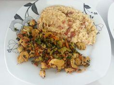[Vamu Comê] Risoto de Tomate Seco com Isca de Frango com Legumes  #POST