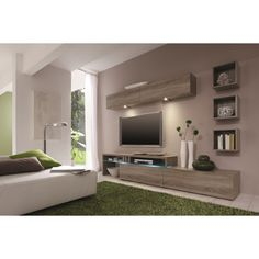 MATERIAL MDF, Melamine, Tempered Glass, LED Lighting The Amsterdam wall unit is the trifecta of all wall units, incorporating modular capability, space saving storage and top quality German design. An