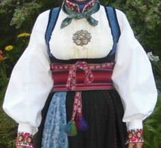Beltestakk from Telemark ( bunad ) Folk Costume, Costumes, Norwegian Clothing, Swedish Design, Summer Outfits Women, Textile Design, Bridal Dresses, Ball Gowns, Namaste