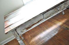 rustic farm table desk