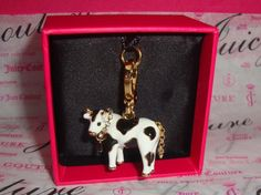 New Juicy Couture Cow Charm Bracelet/necklace/Bag #JuicyCouture