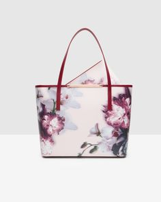 Ethereal Posie crosshatch leather shopper - Nude Pink | Bags | Ted Baker