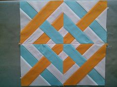 Caned Seat Paper Pieced Block- Click through to Quilter's Cache for pattern