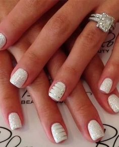 White n silver