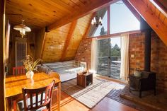 House in Running Springs, United States. Perfect location between BIG BEAR LAKE and LAKE ARROWHEAD. Come take in the gorgeous VIEWS from our big back deck! Our charming and private A-Frame cabin is the ideal escape!  Ample parking for 2 full size vehicles. Sleeps 6 comfortably (and 7 if ...