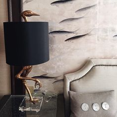 Crane Table Lamp, William Wright