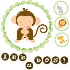 Free Printable Baby Shower Banners Print   ... Happy Birthday Printable Banner Jungle Safari Zoo - Baby Shower Green