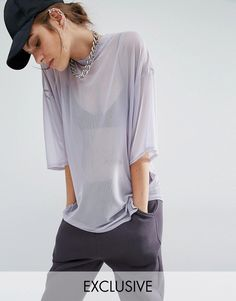 innovative design 1026f 0fbf0 Bones Sheer Mesh Oversized Boxy T-Shirt at asos.com