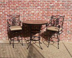 O.W. Lee San Cristobal Barstools With Rustic Slate Bar Table Enjoy Your  Outdoor Room   Yard Art Patio U0026 Fireplace