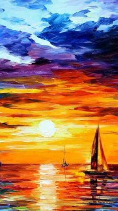Lion Painting, Sailboat Painting, Acrylic Painting Lessons, Large Painting, Iphone 5 Wallpaper, Sunset Wallpaper, Phone Wallpapers, Wallpaper Art, Wallpaper Keren