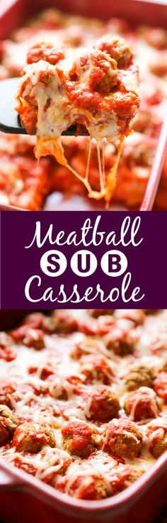 Meatball Sub Casserole | Transform a meatball sub sandwich into a delicious casserole that the entire family will enjoy!