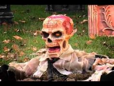 Scary Animated Zombie Halloween Decoration Video
