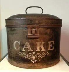 Antique Cake Box Tin