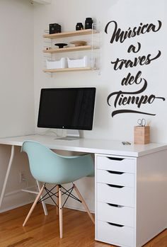 Browse pictures of home office design. Here are our favorite home office ideas that let you work from home. Shared them so you can learn how to work. Home Office Design, Home Office Decor, House Design, Workspace Design, Ikea Workspace, Desks Ikea, Cheap Home Office, My New Room, My Room