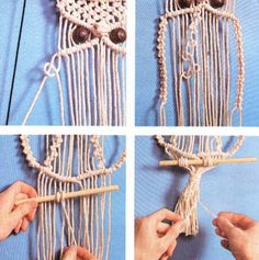 Diy And Crafts, Arts And Crafts, Macrame Owl, Macrame Plant Holder, Mini Craft, Macrame Projects, Macrame Tutorial, Craft Fairs, Weaving