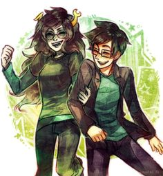 John and Vriska. I love it when they can just hang out and have fun together. <3