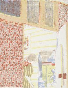 Interieur met roze behang III (Intérieur aux tentures roses III), 1899, Edouard Vuillard, Van Gogh Museum, Amsterdam (Vincent van Gogh Stichting)