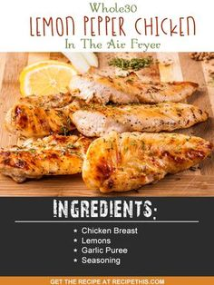 Whole30 Lemon Pepper Chicken In The Air Fryer via @recipethis