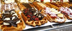 Funny pictures about Epic Belgian Waffles. Oh, and cool pics about Epic Belgian Waffles. Also, Epic Belgian Waffles photos. Food Trucks, Waffle Toppings, Waffle Recipes, Waffle Bar, Waffle Iron, Belgium Waffles, Food Porn, Yummy Food, Tasty