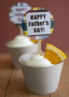 FREE Father's Day Cupcake Topper Printable Download #fathersday